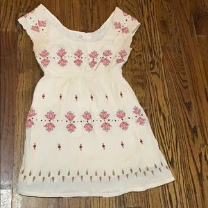 Anthropologie floral print summer dress